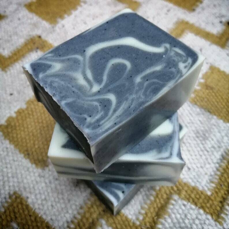Activated Charcoal & Cedarwood Soap Bar by TinShedSoap  (Vegan)