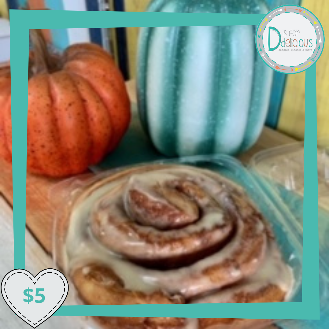 Cinnamon Roll- Baked and Packaged