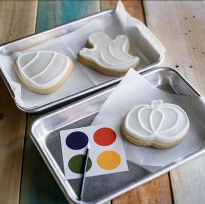 Paint Your Own Halloween Cookie