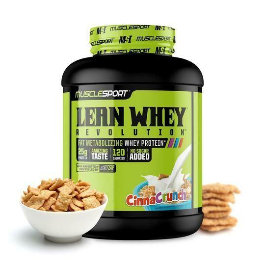 Muscle Sport Lean Whey 5lb Cinna Crunch