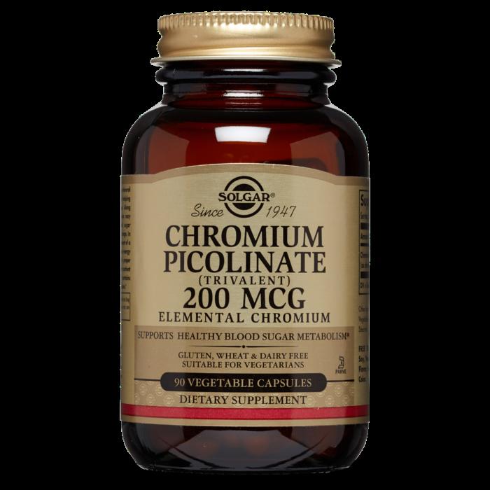 Solgar Chromium Picolinate 500mg 60 Vegatable Capsules