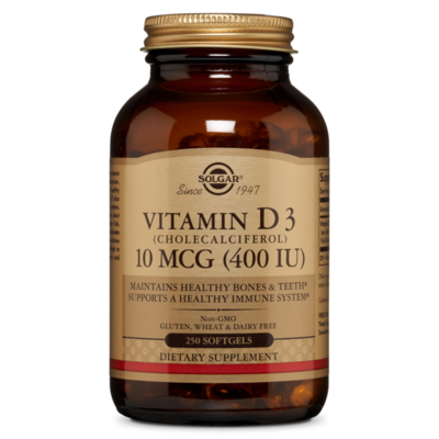 Solgar Vitamin D3 400 IU 250 softgels
