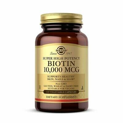Solgar Biotin 10,000MCG  120 Caps