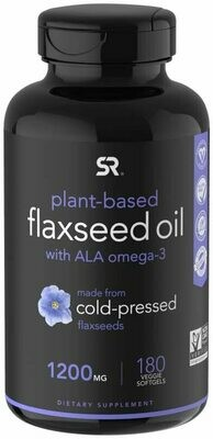 Sports Research Flaxseed Oil 1200mg 180gels