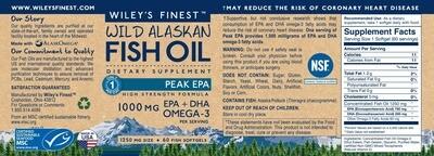 Wiley's Fish Oil Peak Omega 3 Liquid