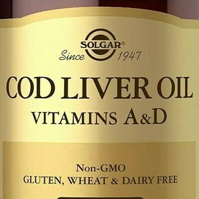 Solgar Cod Liver Oil +A,D 250 gels