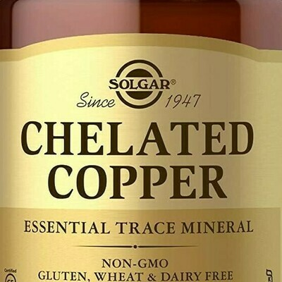 Solgar Chelated Copper 100tablets