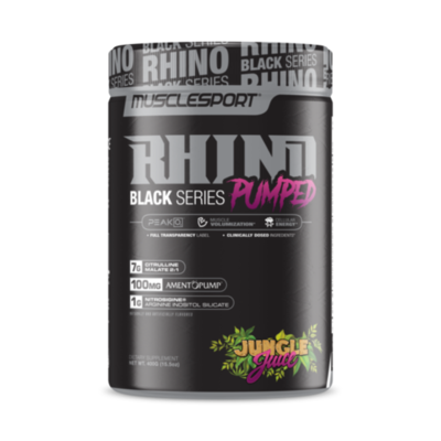 Muscle Sport RHINO Black V2 PUMPED