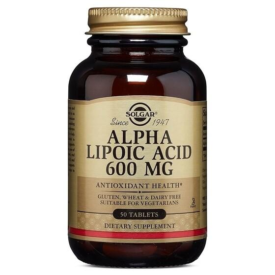 Solgar Alpha Lipoic Acid 600mg 50 tablets