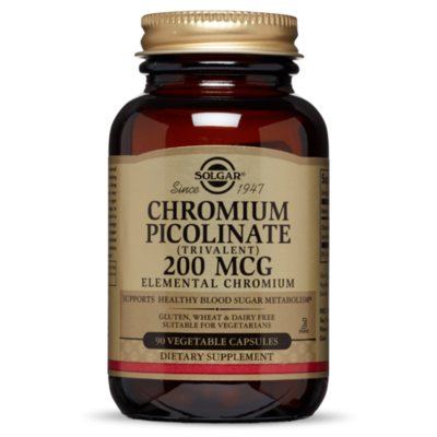 Solgar Chromium Picolinate 500mg 60 Vegatable Capsules