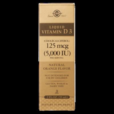 Solgar Vitamin D3 Liquid 5000IU 2 FL OZ