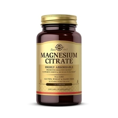 Solgar Magnesium Citrate 120tab
