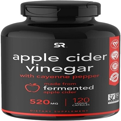 Sports Research Apple Cider Vinegar 500mg 120 veggie caps