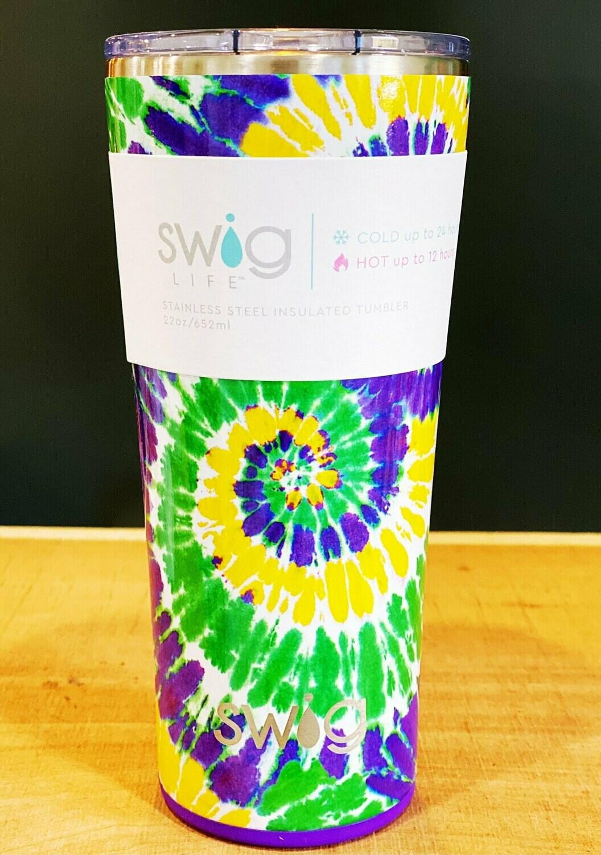 Swig - Mardi Gras Tie Dye - 22oz