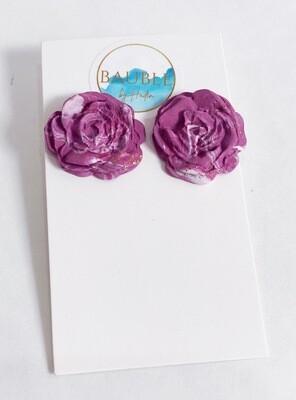 Flower studs-handmade