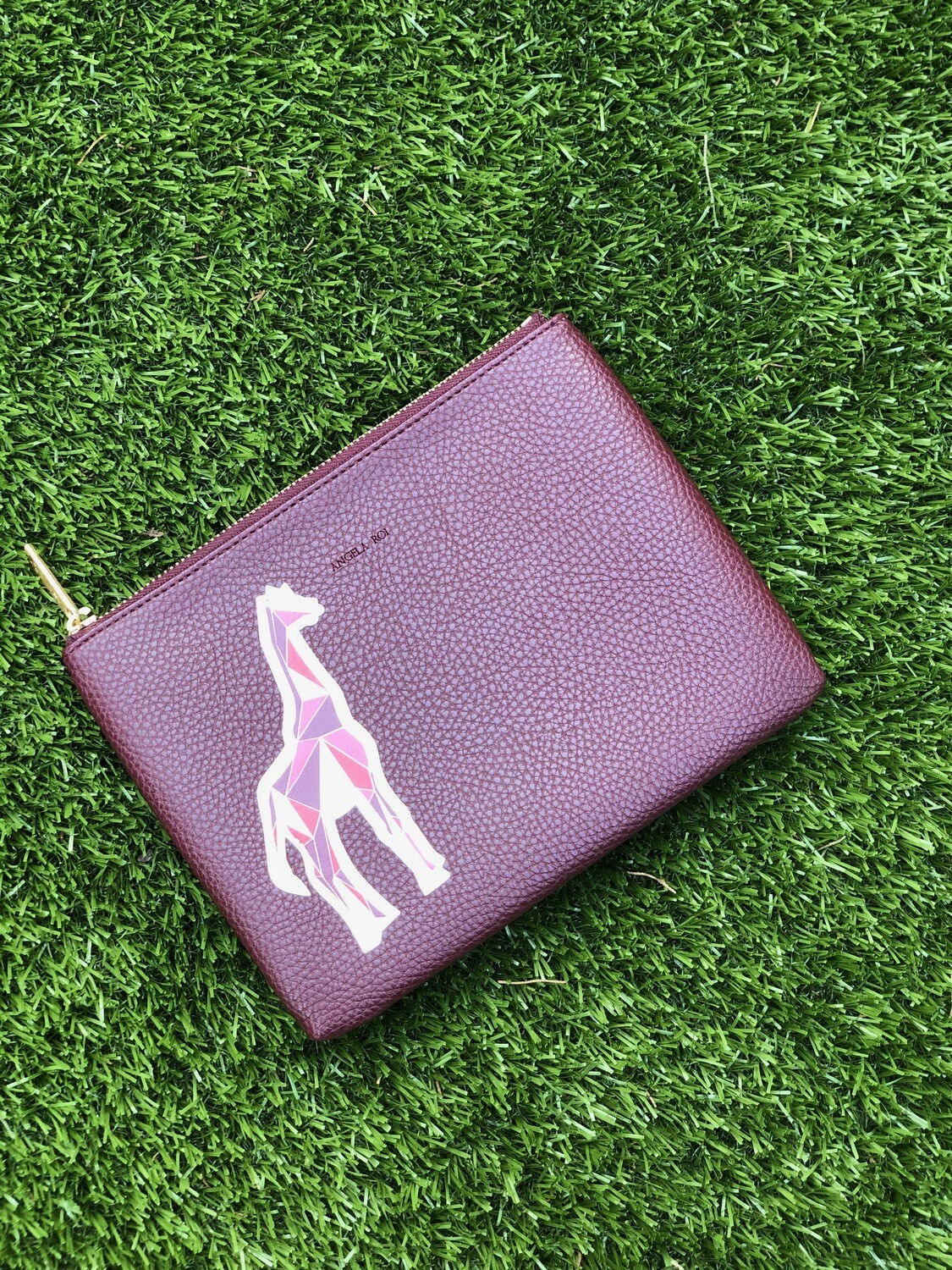 Angela Roi Zuri Travel Pouch Burgundy
