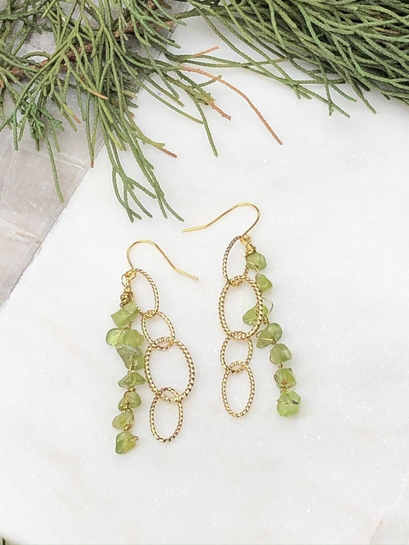 Vintage Ovoid: Peridot Earrings