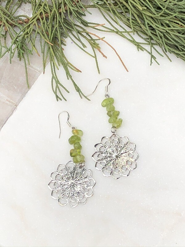 Flower Child: Peridot Earrings