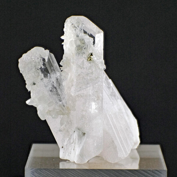 Calcite and Pyrite on Danburite Cluster with Gemstone Courier