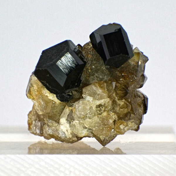Black Tourmaline with Smoky Quartz