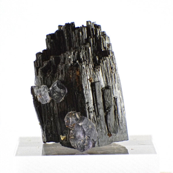 Black Tourmaline with Fluorite