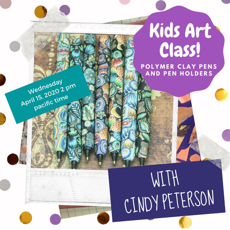 Polymer Clay Pens Kids Art Class