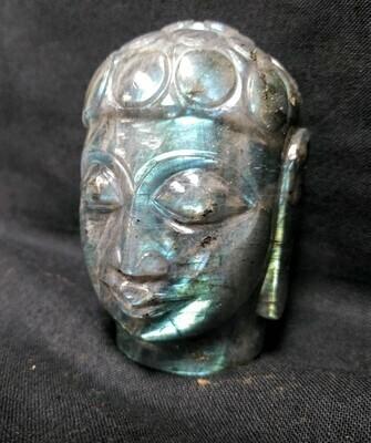 Labradorite Buddha Head