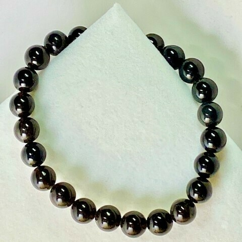 Black Obsidian Gemstone Beads 8mm