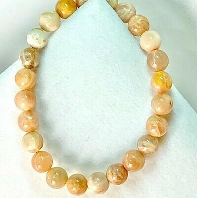 Moonstone Mixed Color Gemstone Bracelet 8mm