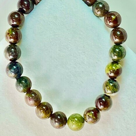 Dragon Blood Jasper Gemstone Bead Bracelet 8mm