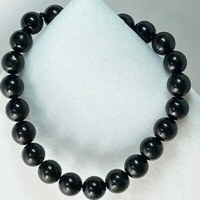 Shungite Beaded Bracelets   3 Sizes