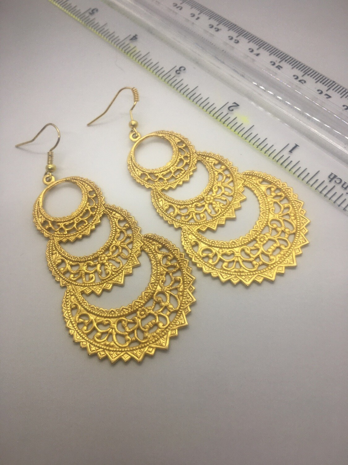 Brass Filigree Dangles