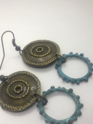 Rustic Circle Earring
