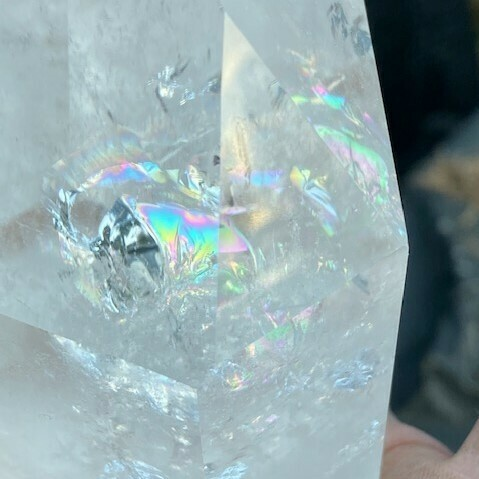 Clear Quartz Rainbow Quartz