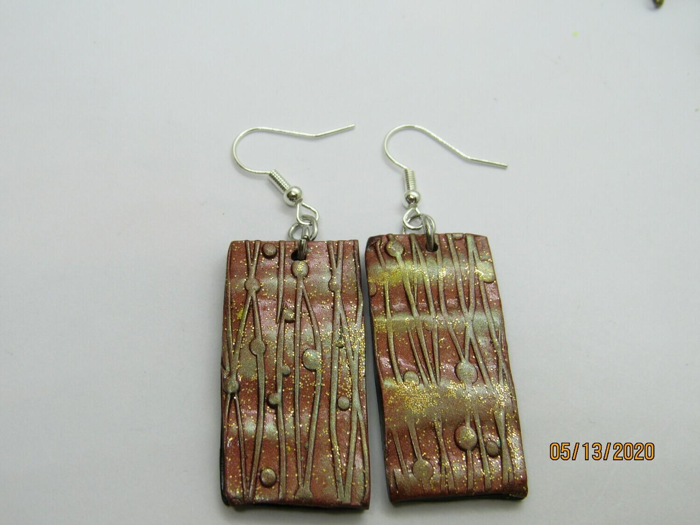 Metallic Copper earrings