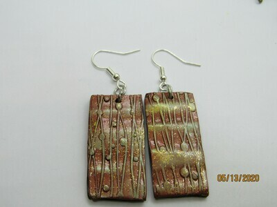Metallic Copper earrings