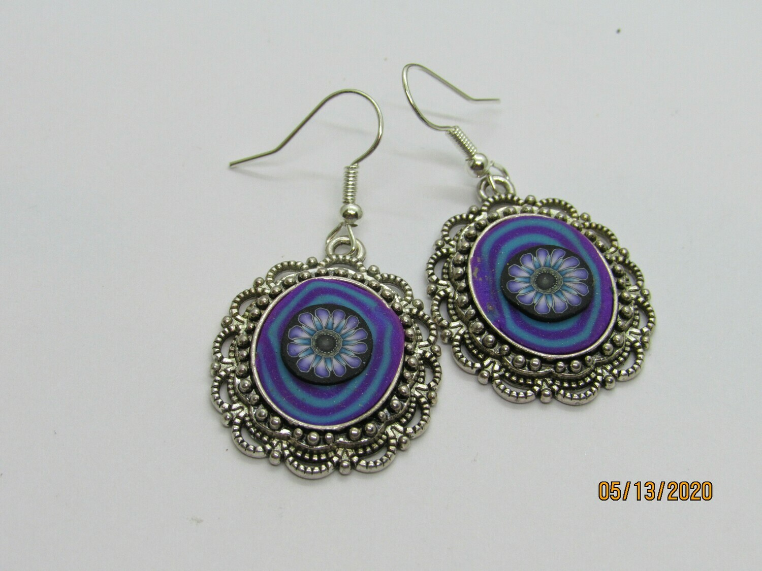 Cabochon Drop  earrings