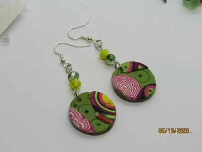 Abstract Polymer Clay earrings