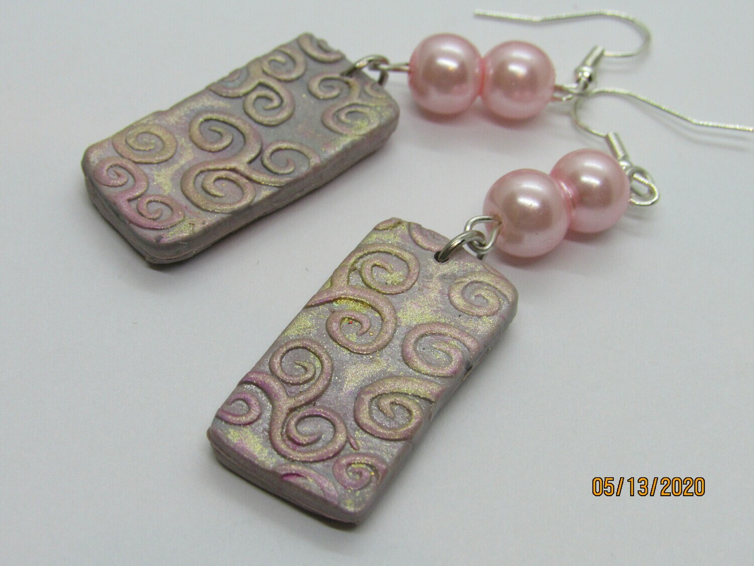 Pink Swirl earrings
