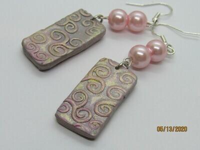 Pink Swirl earrings