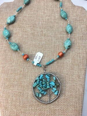 Turquoise Tree Of Life Pendant
