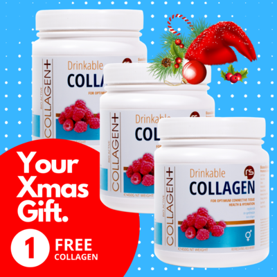 Xmas 3 For 2 Red Raspberry Collagen Special - 1 FREE Xmas Gift value R495