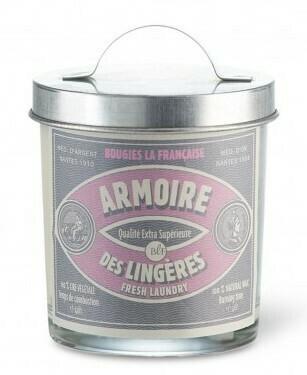 Bougie vintage / Armoire des lingères