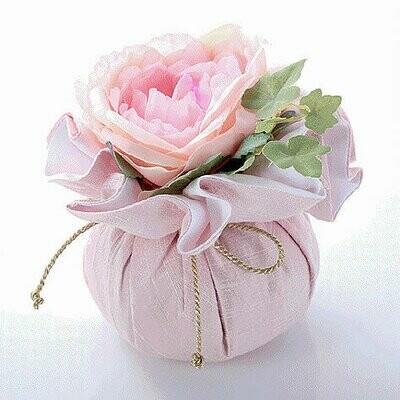Fleur en soie rose (moyenne)