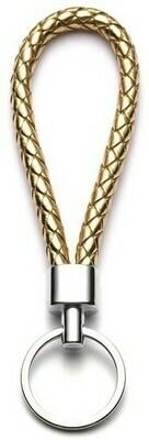 Porte-clefs en cuir tressé - Gold