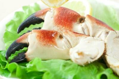 Pince de crabe cuite