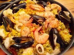 Paella maison fruit de mer poisson
