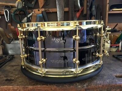Steeldrum 14x6,5 Brass black nichel