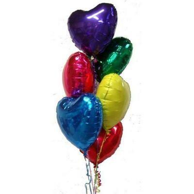 6 Heart  Balloons