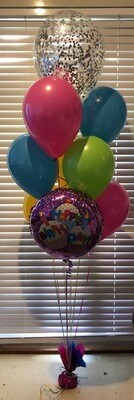 Melbourne Cup Foil and  Confetti Balloon Bouquet